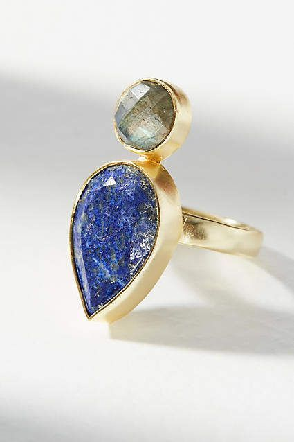 Kanupriya Ocean Stone Ring opySds