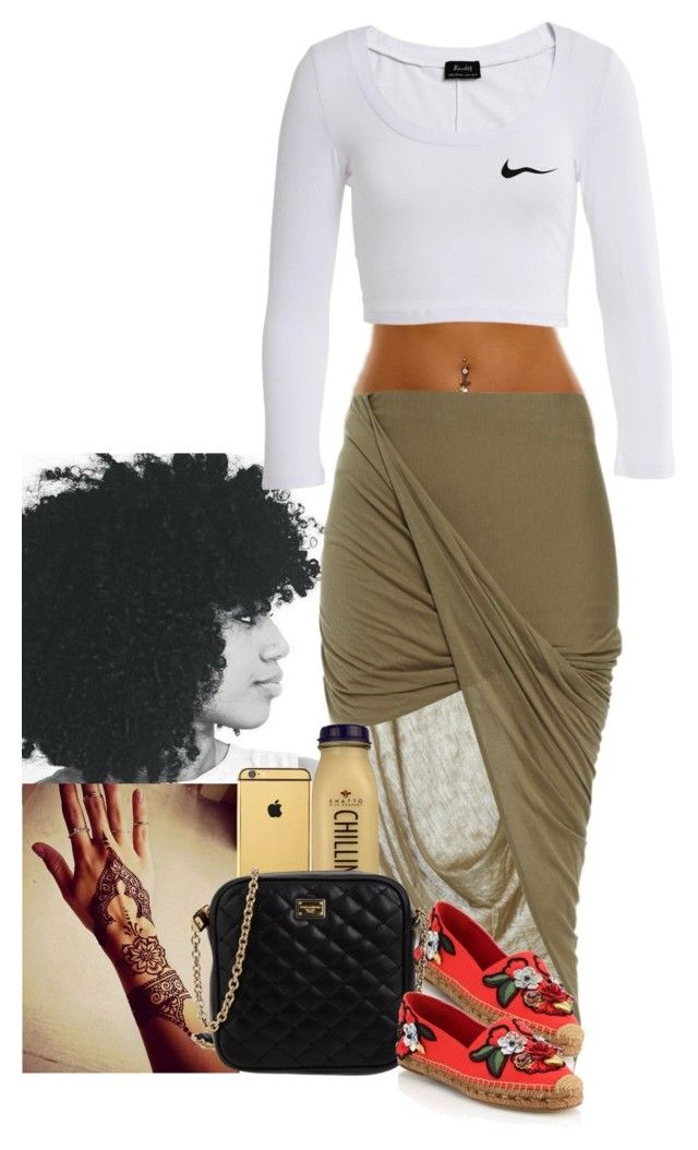 """""""❤️"""" by jemilaa ❤ liked on Polyvore featuring Bardot, Goldgenie, CO and Dolce&Gabbana"""