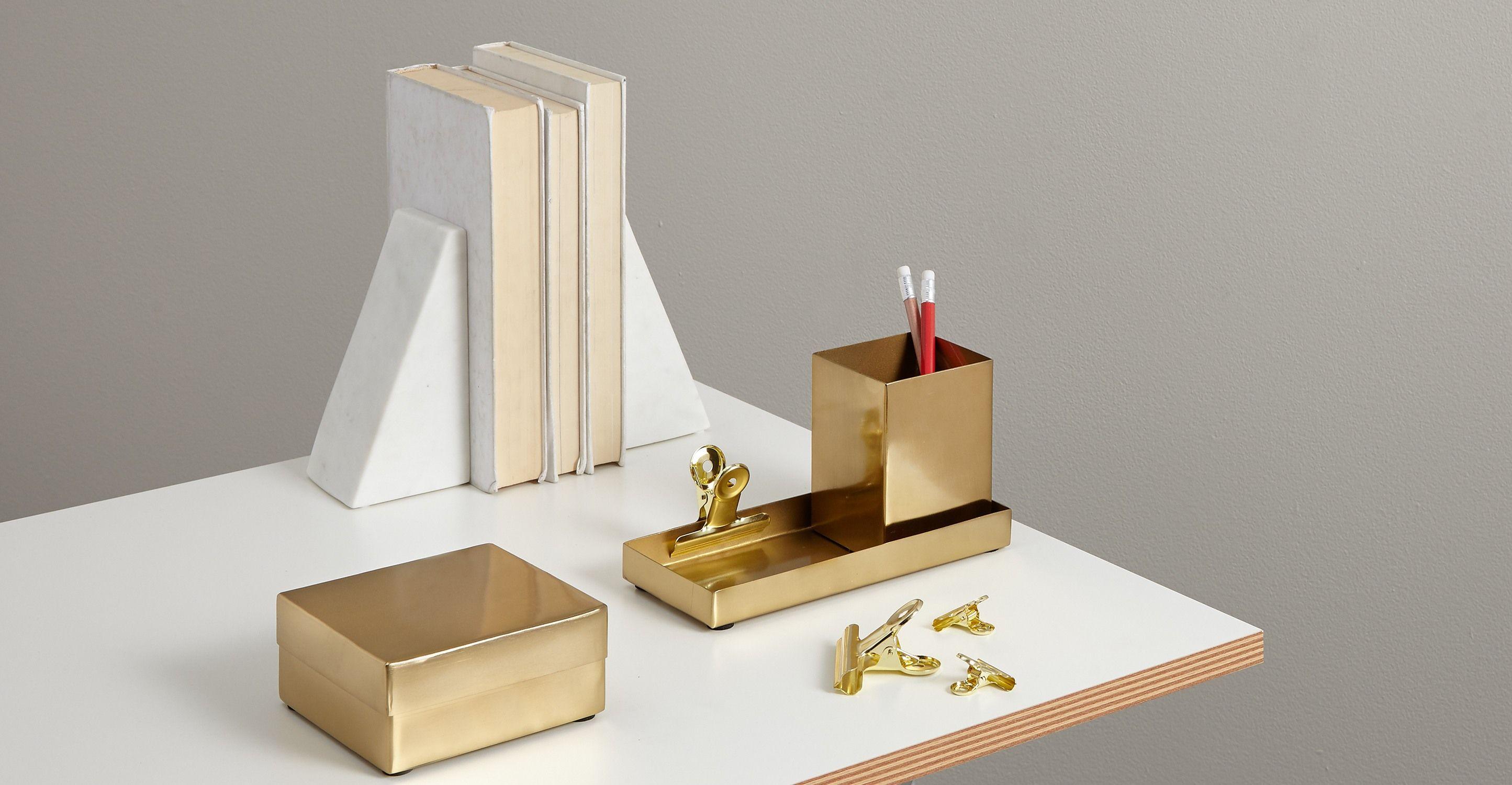 Elisa serre livres en marbre blanc home interior design