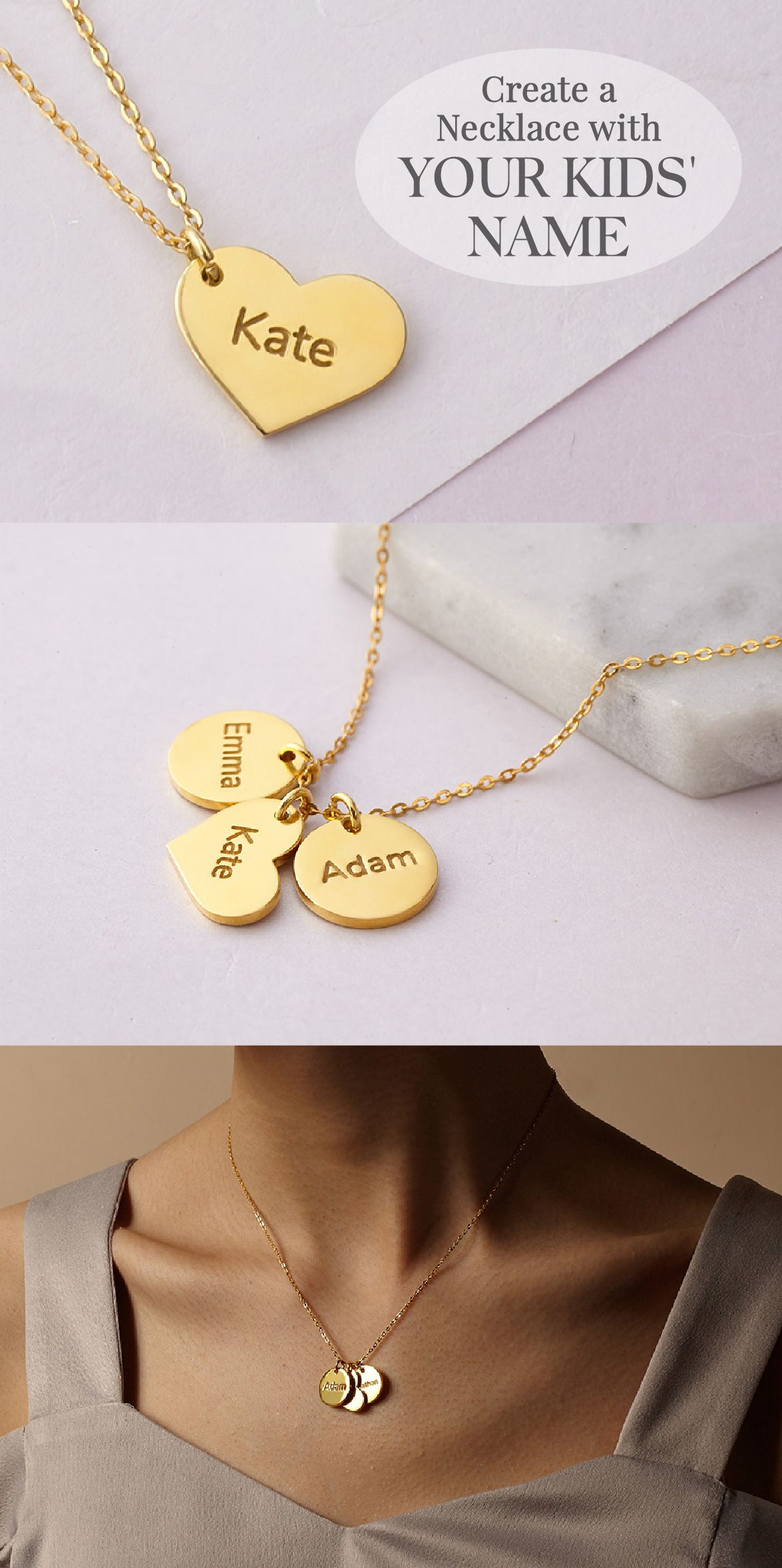 8d285cd75 Personalized Name Necklace Gold • Name Necklace For Mother • Kid Name  Necklace With Charm • Gold Necklace With Name • Personalised Kids' Name  Necklace For ...