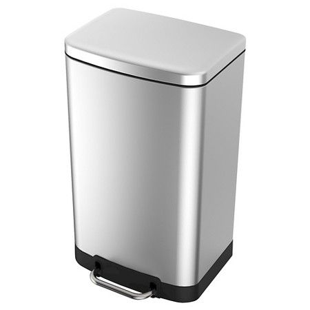 40 Liter Rectangle Stainless Steel Trash Can - Threshold ...