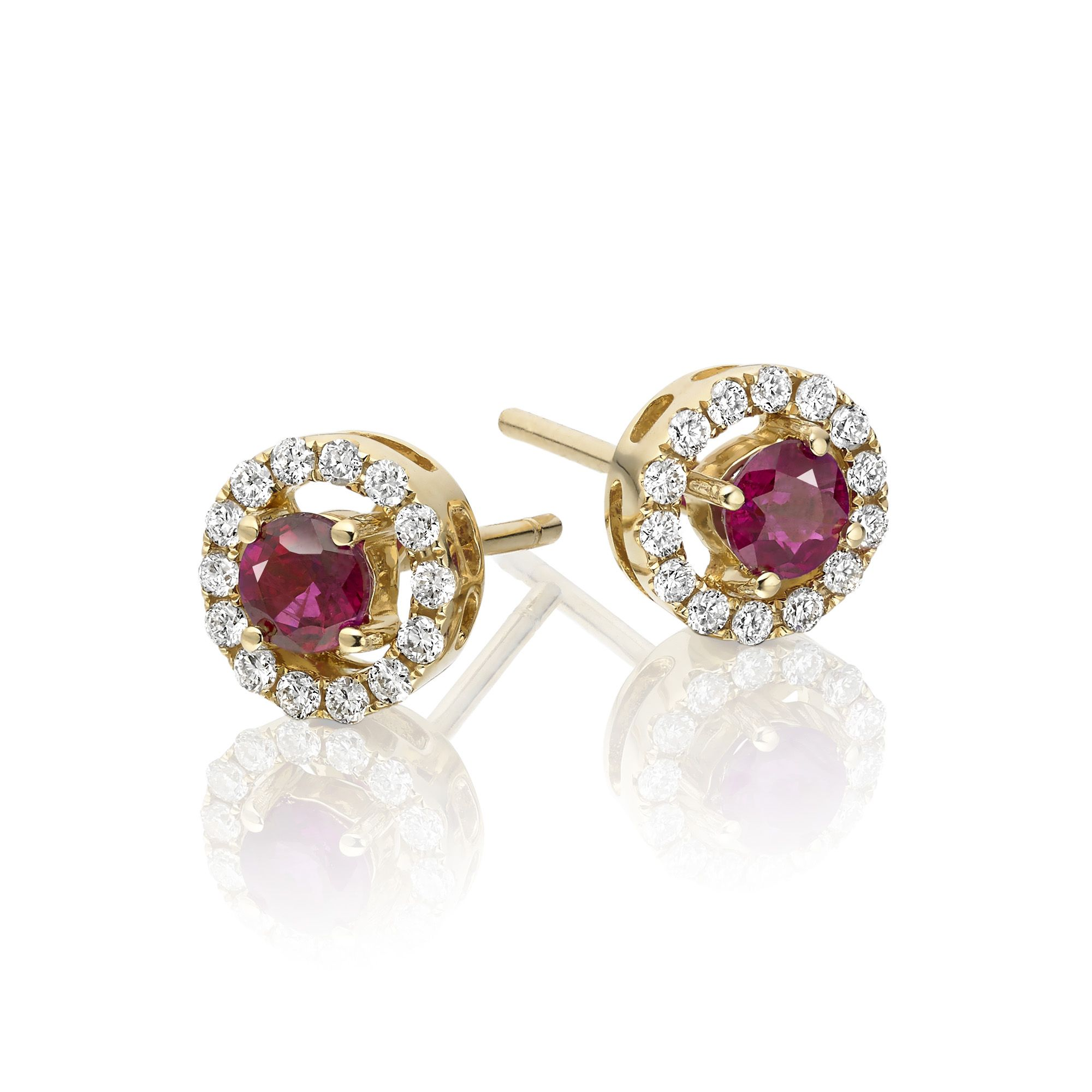 ruby stud octagone earring rose s silver sterling over gold pin women