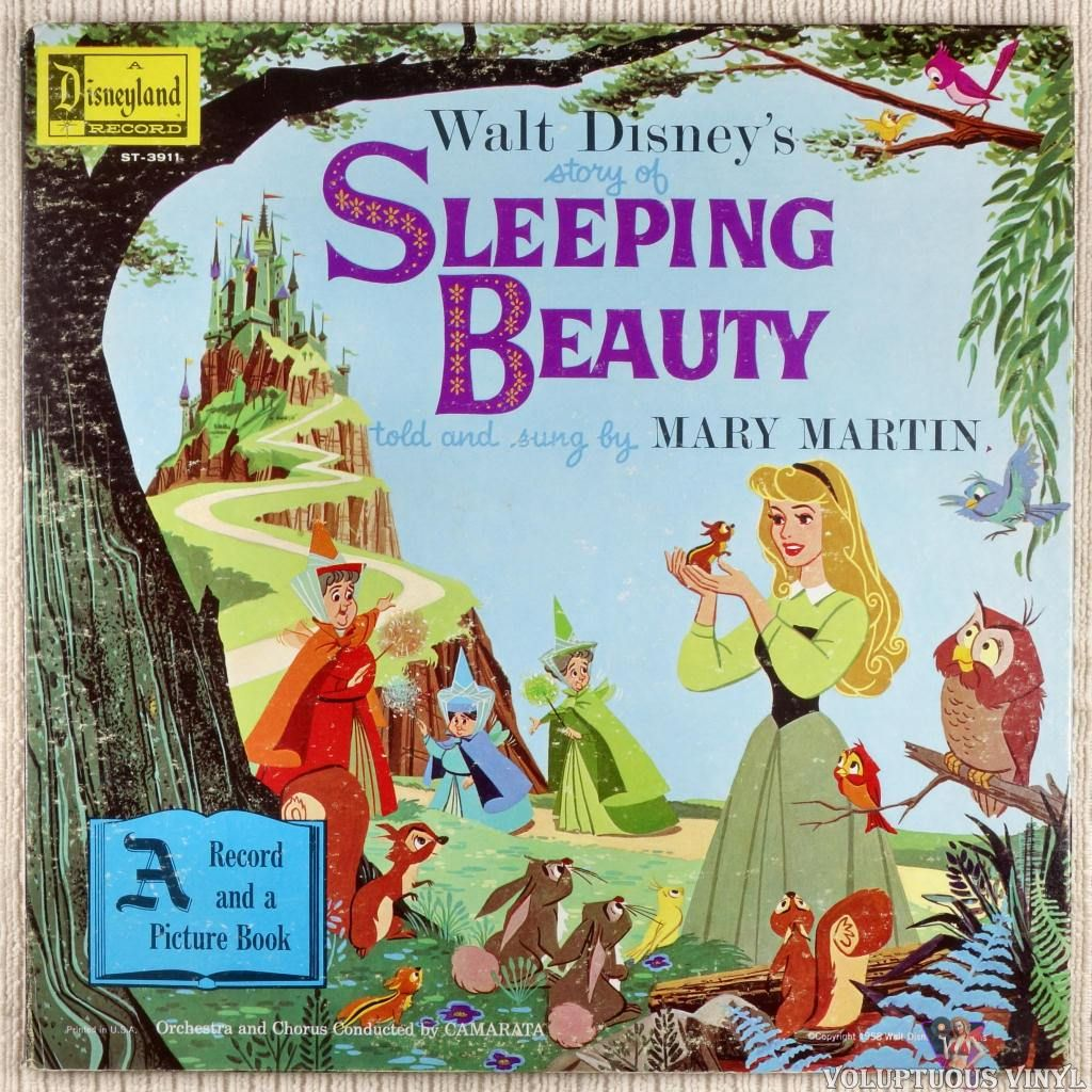 Mary Martin Walt Disney S Story Of Sleeping Beauty 1958 Disney Sleeping Beauty Disney Story Disney Records