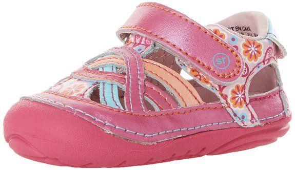 Stride Rite SM Uma Fisherman Sandal (Infant/Toddler),Pink/Multi,4.5 M US Toddler