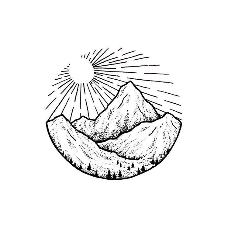 Circular Canada Tatoos Tatouage Idee Dessin Et Tatouage Montagne