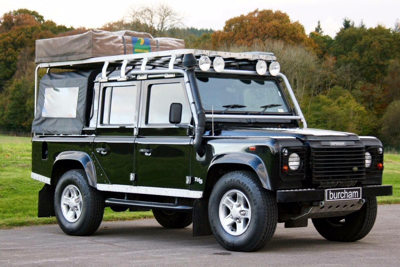 Land Rover Defender 110 Double Cab With Rooftop Tent Land Rover Defender 110 Land Rover Defender Land Rover