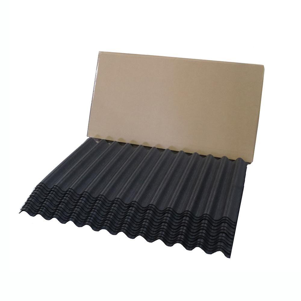 Best Jumbo Shingle Black Corrugated Shingle 75 Sq Ft Per 640 x 480