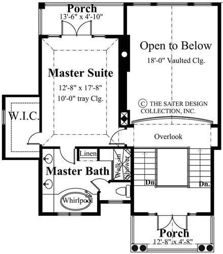 Upstairs floor plan