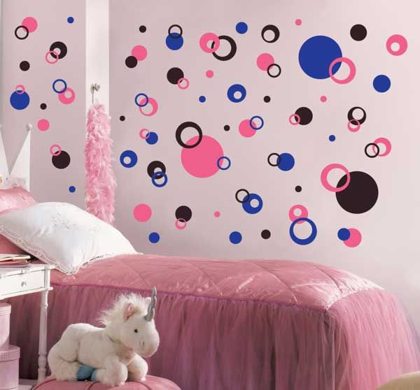Girls Bedroom Paint Ideas Polka Dots attractive and wonderful bedroom design ideas with wall polka dot