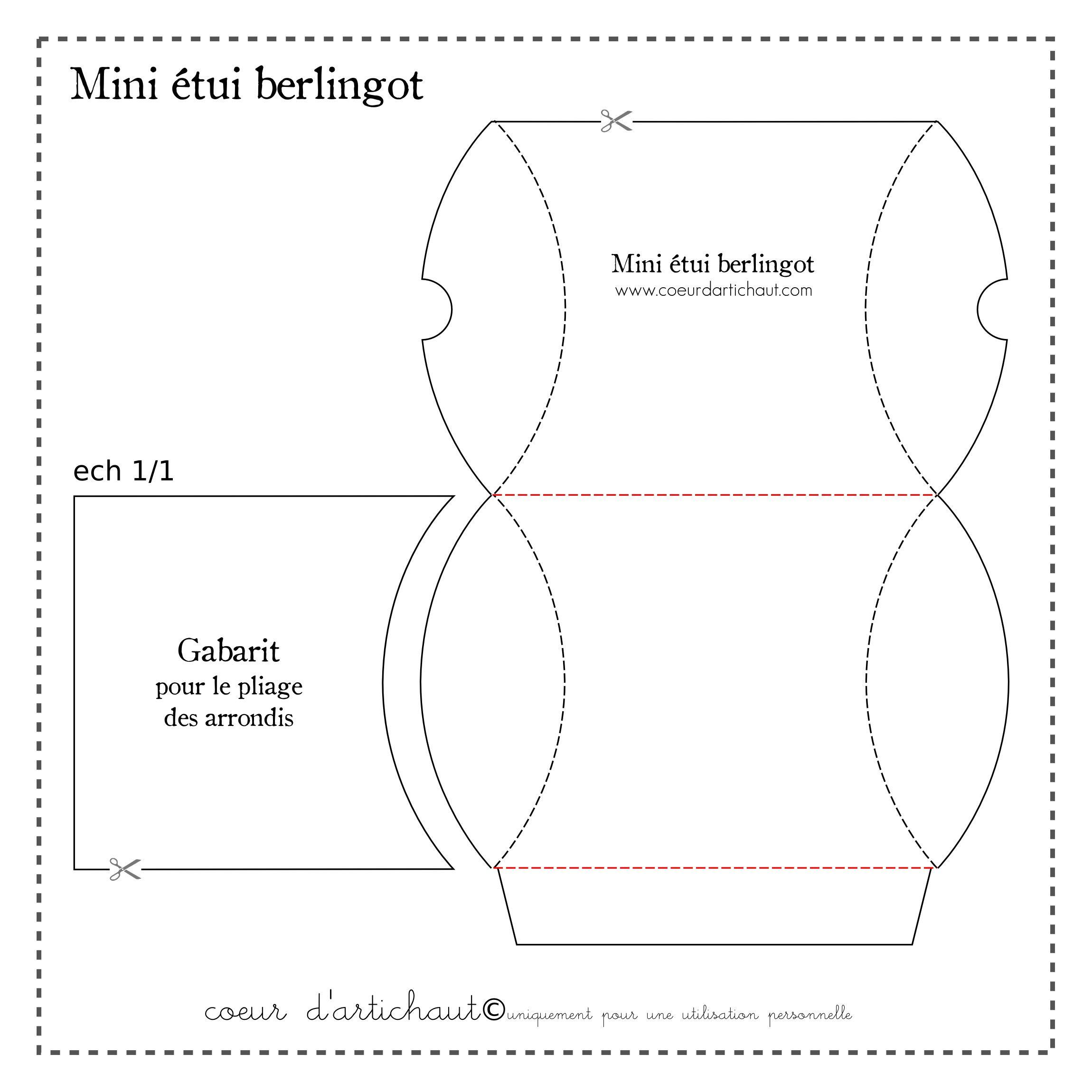 Gabarit tui berlingot tuto papiers papers diy pinterest etui boite cadeau et minis - Gabarit boite en papier ...