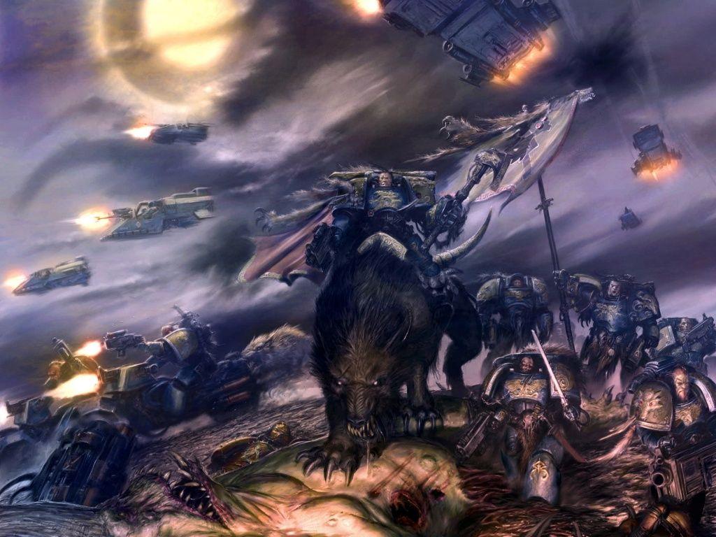 40k Wallpapers Imgur Space Wolves Warhammer Warhammer 40k Space Wolves