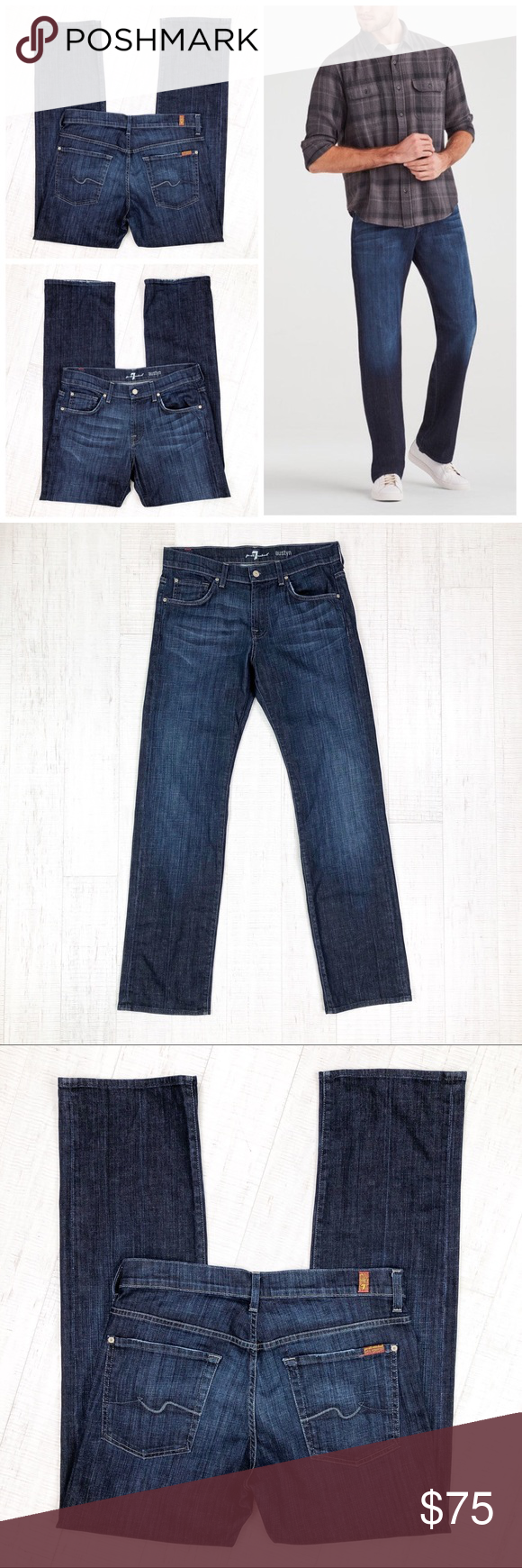 7 For All Mankind Mens Austyn Relaxed Straight in Epic