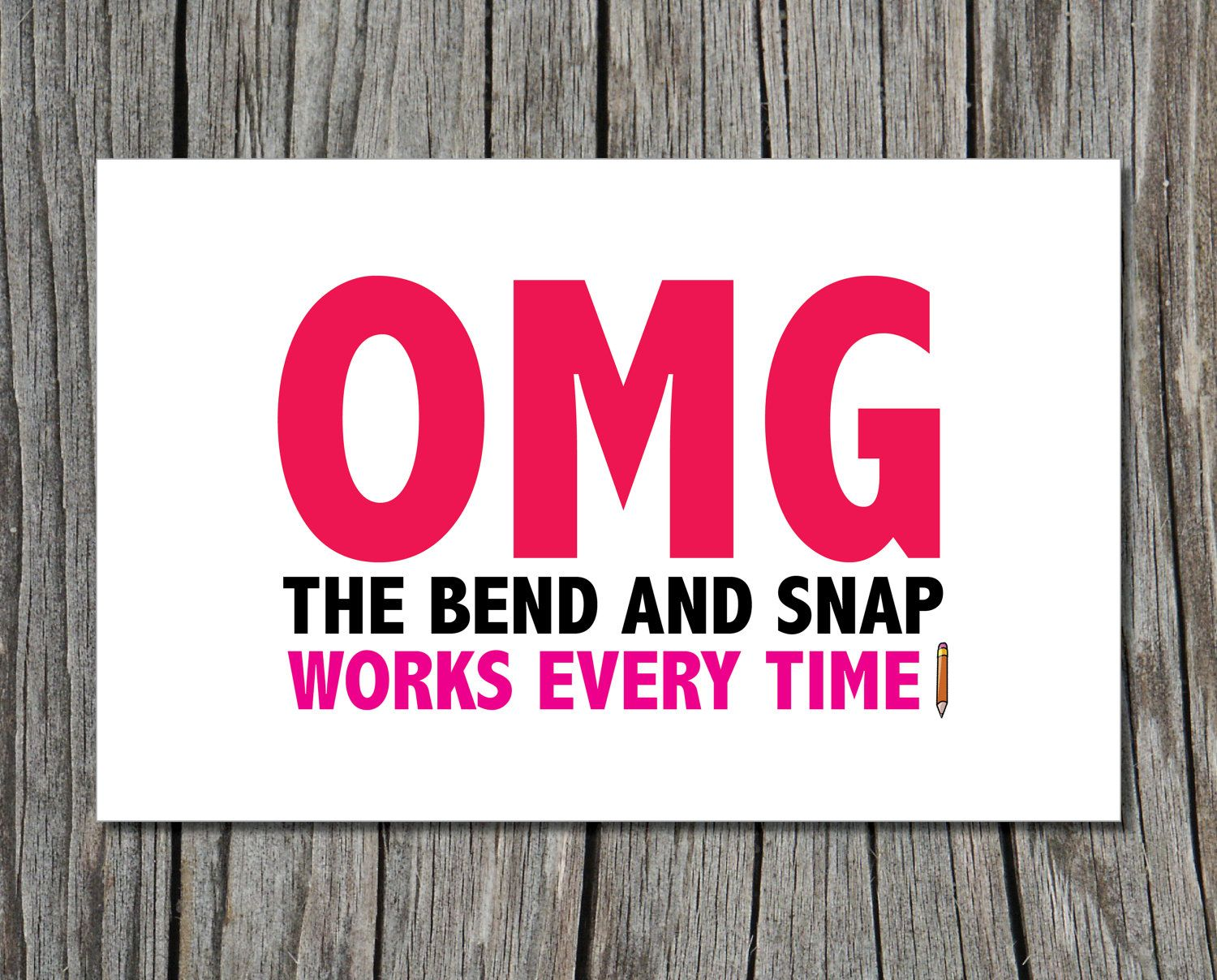 Legally Blonde Bend And Snap Elle Woods Printable Greeting Card