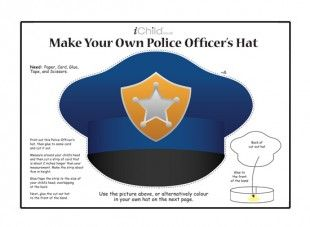 Your child can make their own police officer\'s hat with this craft ...
