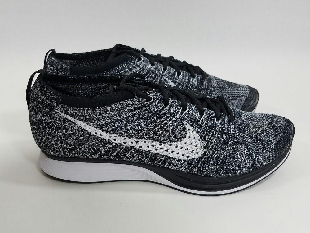 Nike Flyknit Racer sz Men's (Women's 10) (526628 012) Black