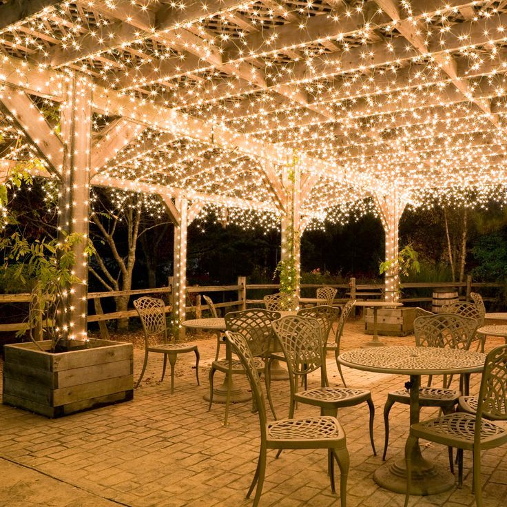 Hang White Icicle Lights To Create Magical Outdoor Lighting. This Idea  Works Well For Decks