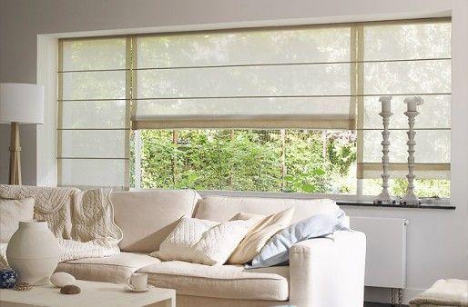 Fenstergestaltung Wohnzimmer ~ Diese raffrollos für an die fenster das würde chic aussehen und