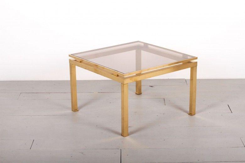 TABLE BASSE LAITON GUY LEFEVRE MAISON JANSEN FRANCE - ANNÉES 1970