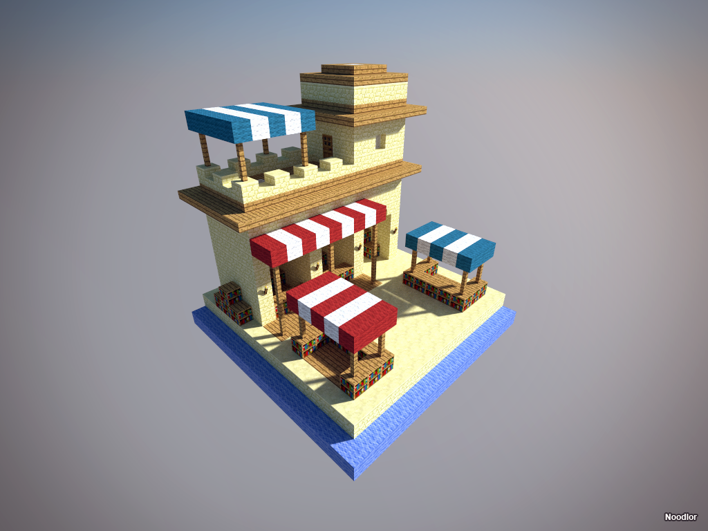 The Desert Bazaar One Of The Many New Structures Of My Chunk World - Minecraft haus bauen mit einrichtung