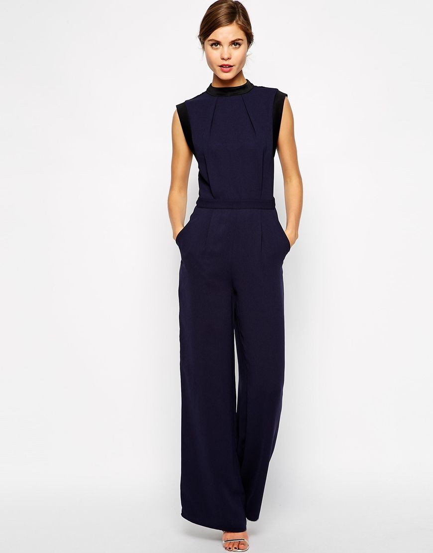9220a4b817e0 Warehouse Wide Leg Pant Jumpsuit   things to wear   Jumpsuit, Wide ...