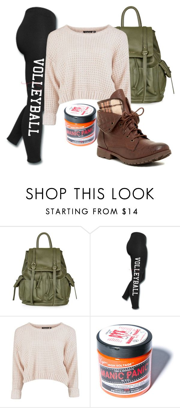 """""""Volleyball"""" by kayleighmw on Polyvore featuring Topshop, Manic Panic and Rock & Candy"""