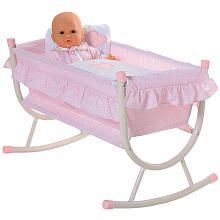 Corolle Pink Baby Doll Cradle For Dolls Up To 17 Inches