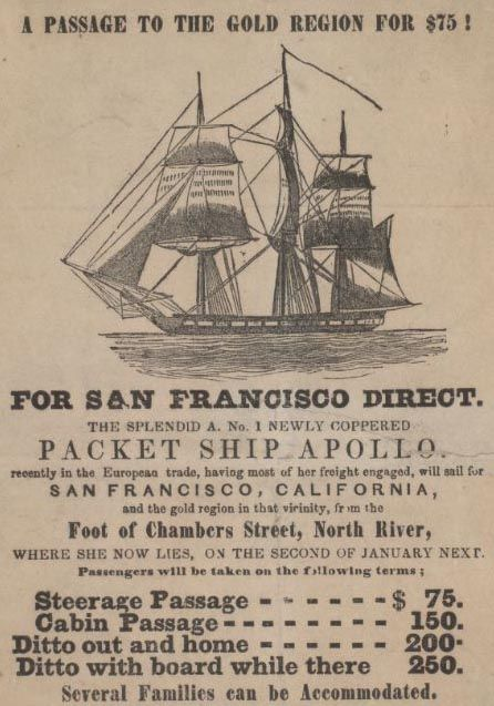 an overview of the massive migrations during the gold rush in california