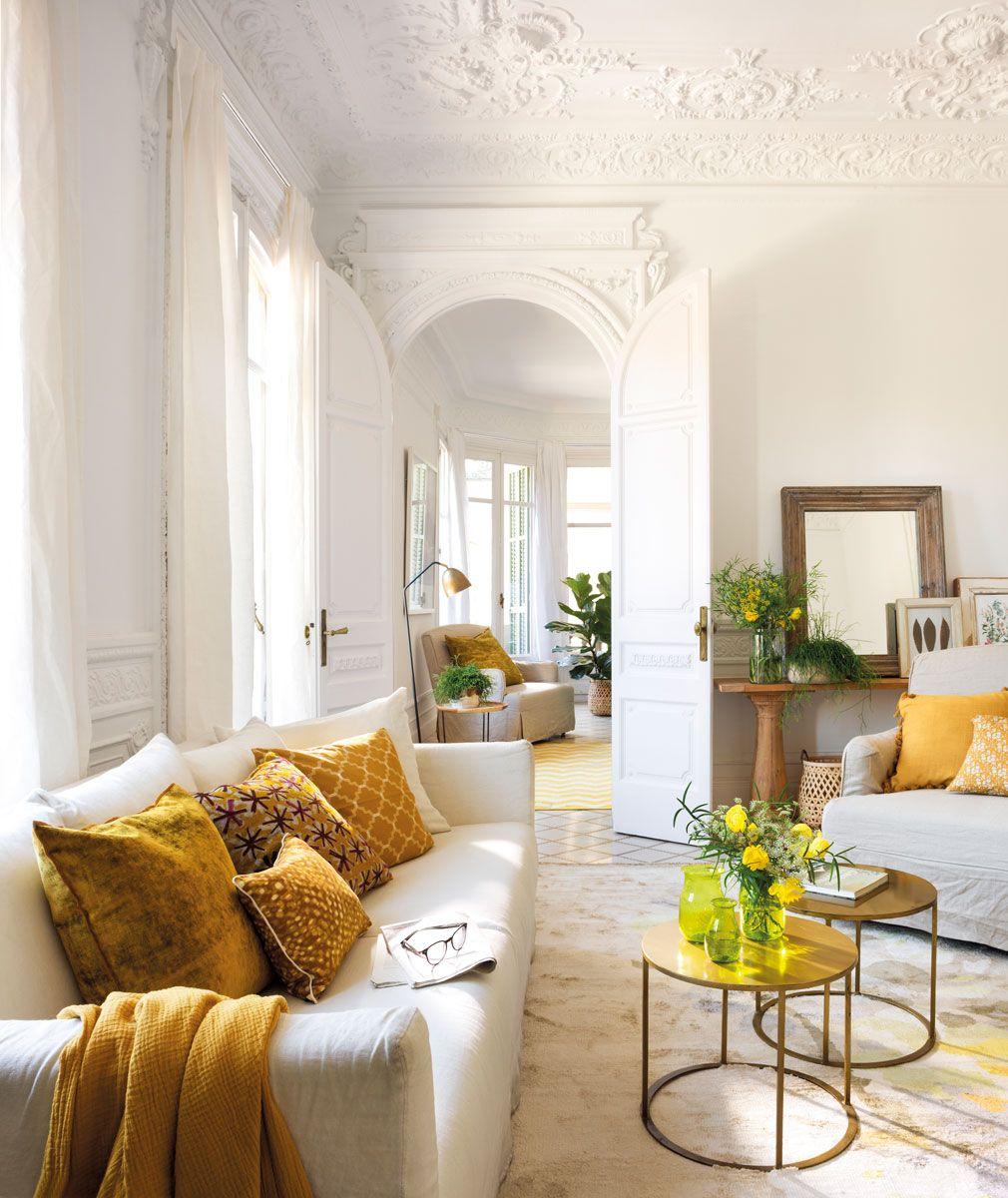 Un color, un ambiente  Decoración sofá blanco, Decoracion de