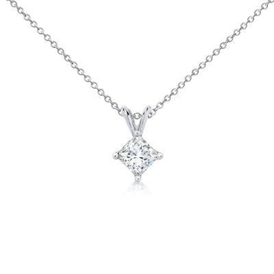 Princess-Cut Diamond Pendant in Platinum (1 ct. tw.) from Blue Nile. $6,085.00