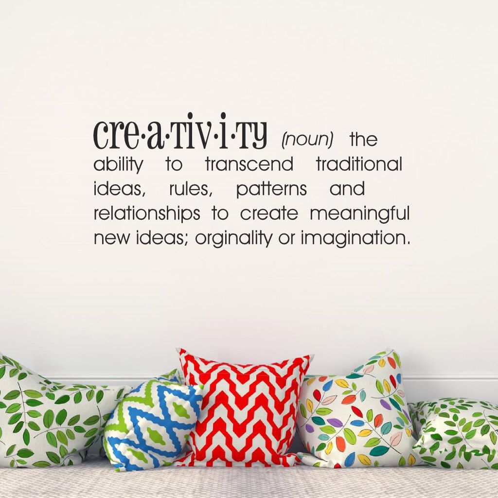 Vinyl lettering decals for crafts - Creativity Definition Vinyl Lettering Wall Decal Wall Words Vinyl Wall Art Craft Room Decor By Ozavinylgraphics