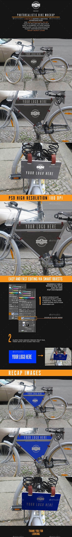 Download Photorealistic Bike Advertising Mockup Bike Illustration Bike Logos Design Design