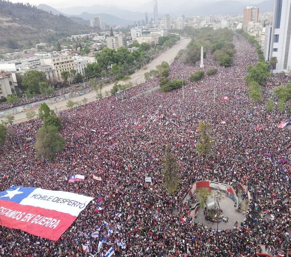 La marcha más masiva. Más de 1 millón de personas. Viernes 25 de octubre