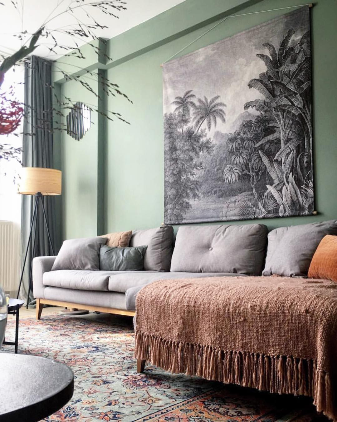 Prospect Green Paint Green Walls Living Room Living Room Green