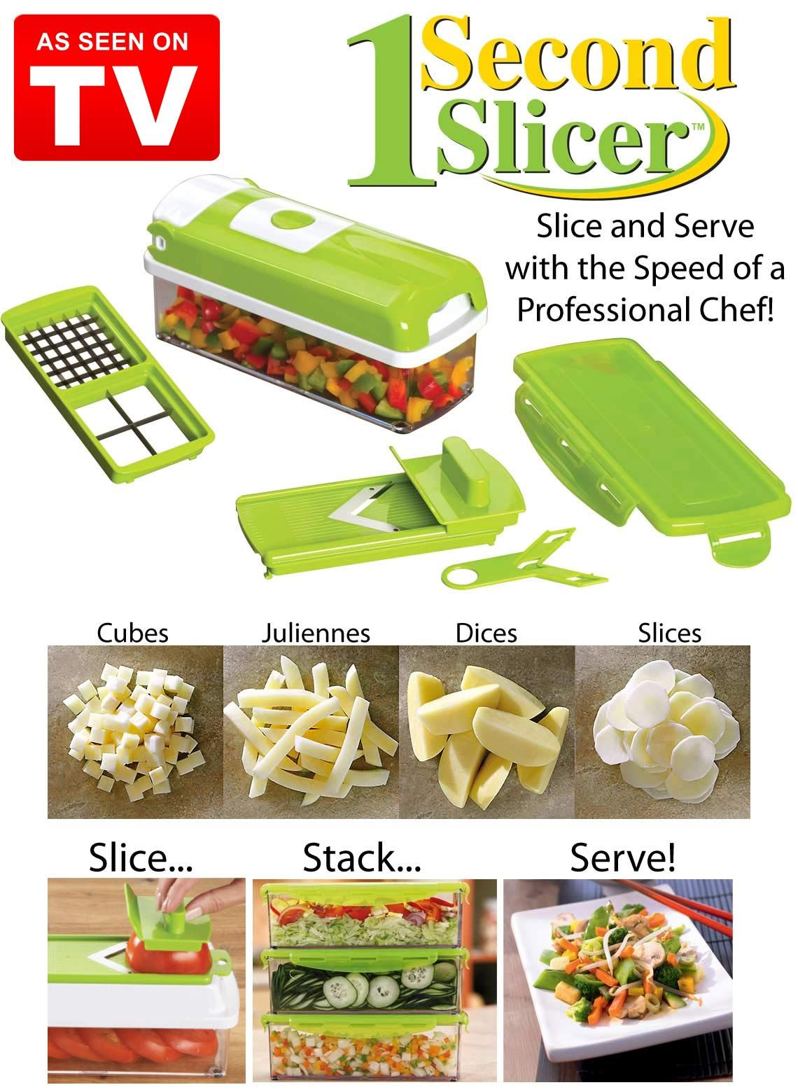 1 Second Slicer As Seen On Tv From Carol Wright Gifts Offering Free Shipping Today Only