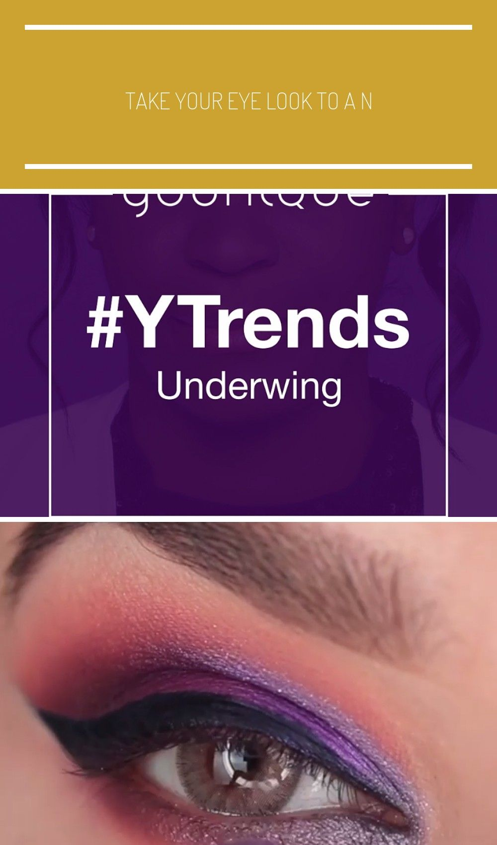 Take your eye look to a new level with our Purple Underwing . . . . . . up tutorial video eyeshadow