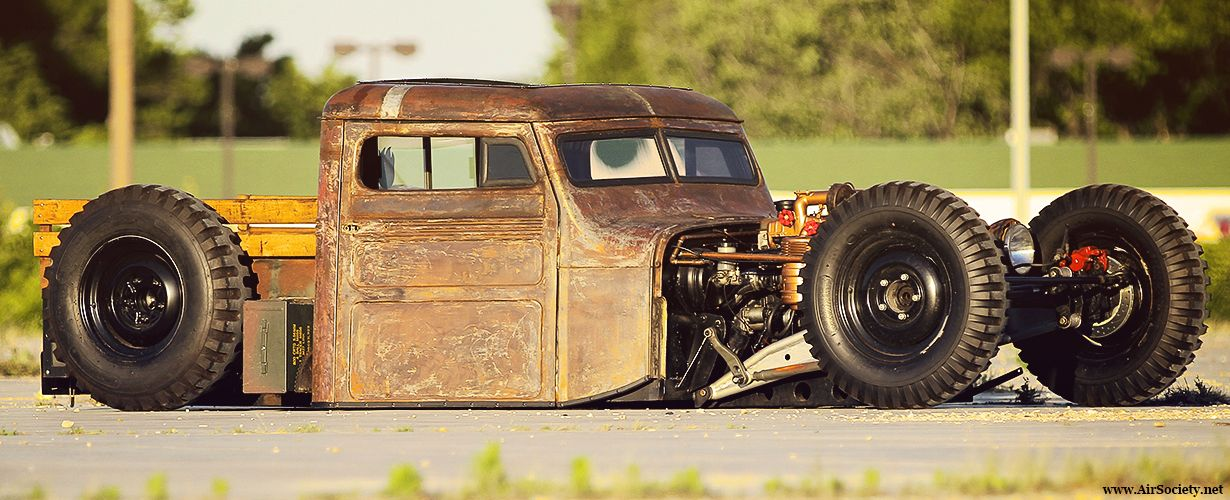 Jeep Willys Village Customs Airsociety Rat Rod Bagged Air
