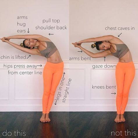 crescent moon pose sometimes called halfmoon pose or