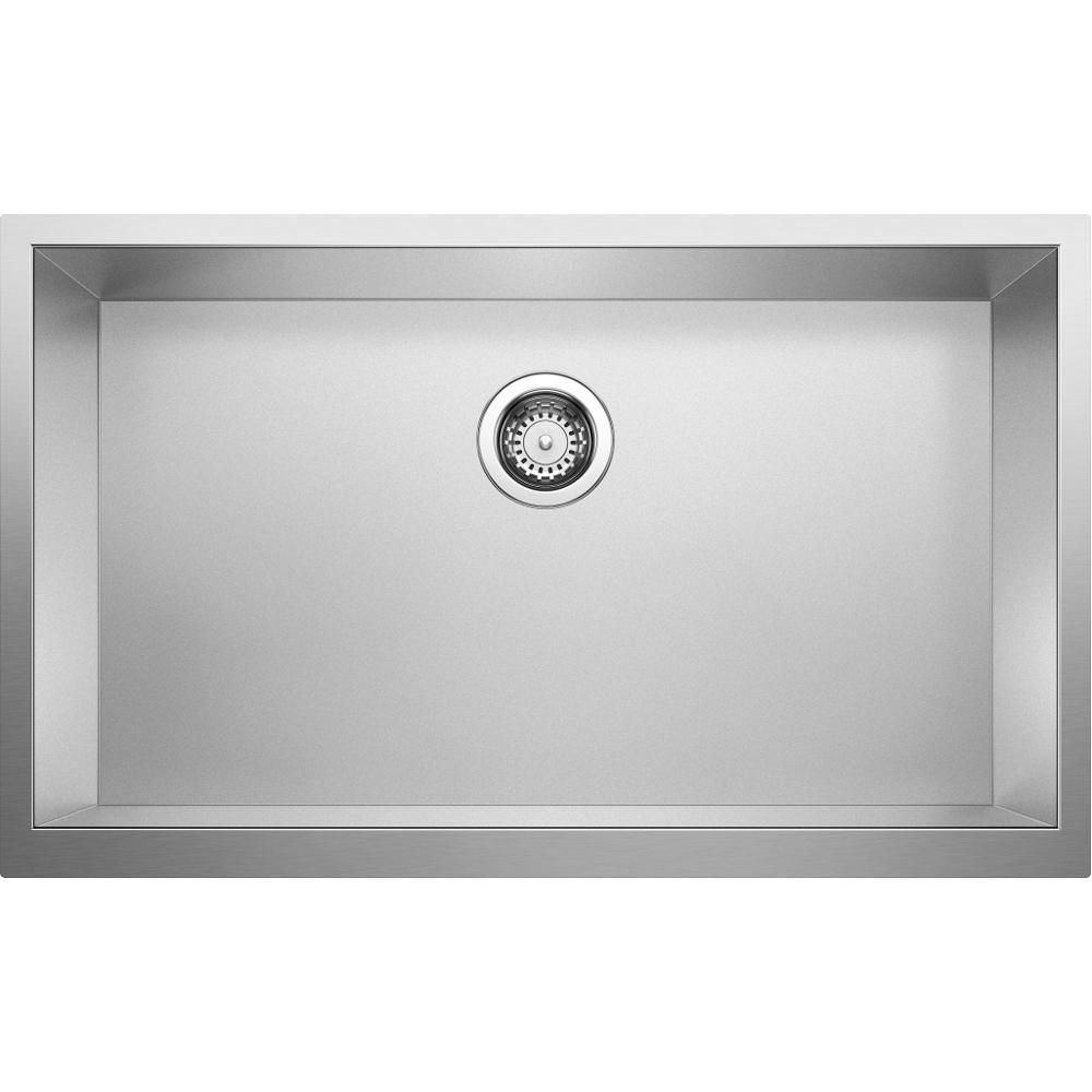 Blanco Precision Farmhouse Apron Front Stainless Steel 32 In X 19 5 In Single Bowl Kitchen Sink In Durinox Single Bowl Kitchen Sink Sink Stainless Steel