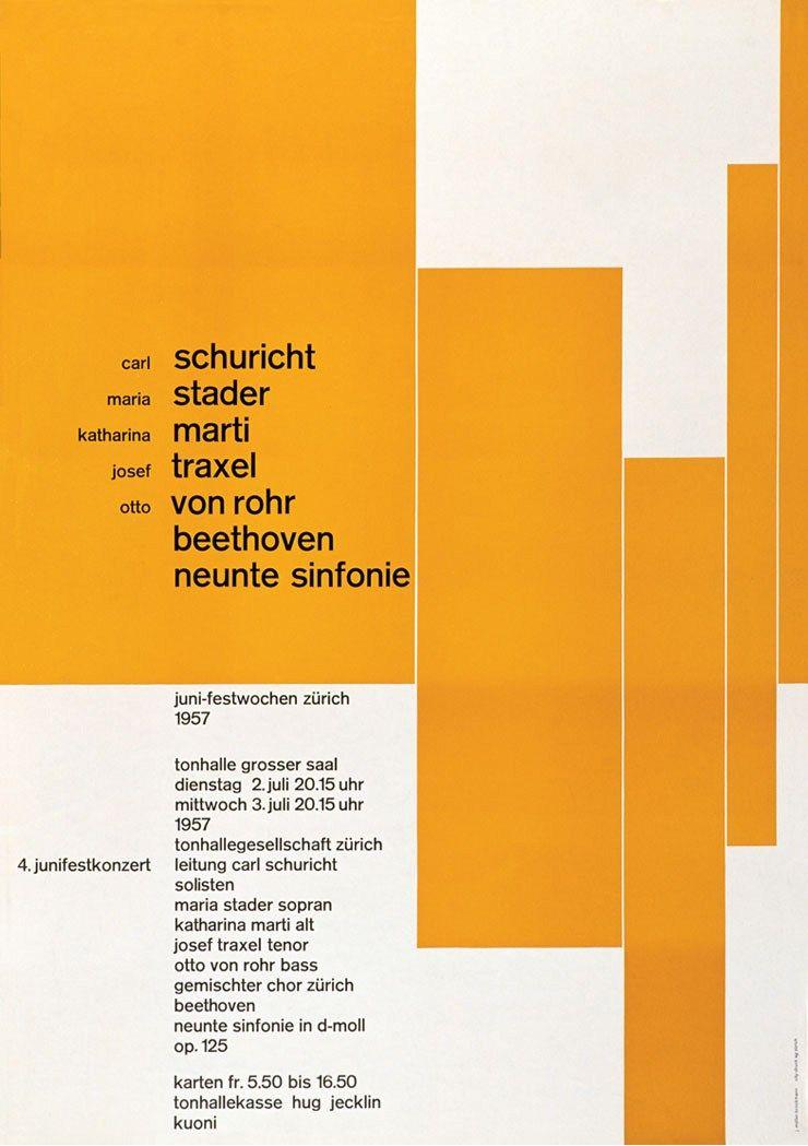 Josef Muller Brockmann International Typographic Style Graphic Design Inspiration Swiss Design