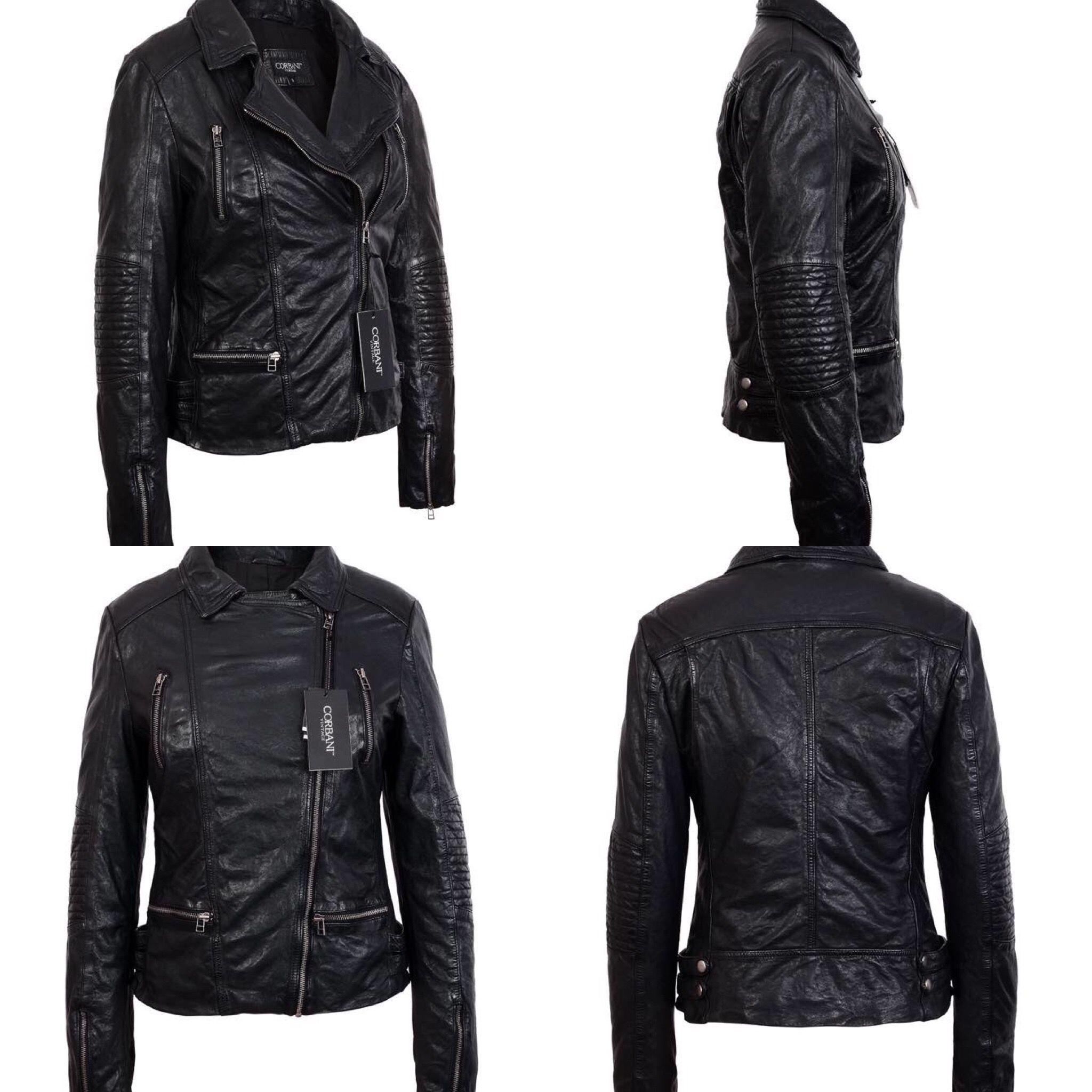 10ca2509994c Lambskin Leather · Vintage Black · Real Leather ·  corbani  corbaniaw17   corbaniwomen  vintage  leather  jackets - Amazon  www
