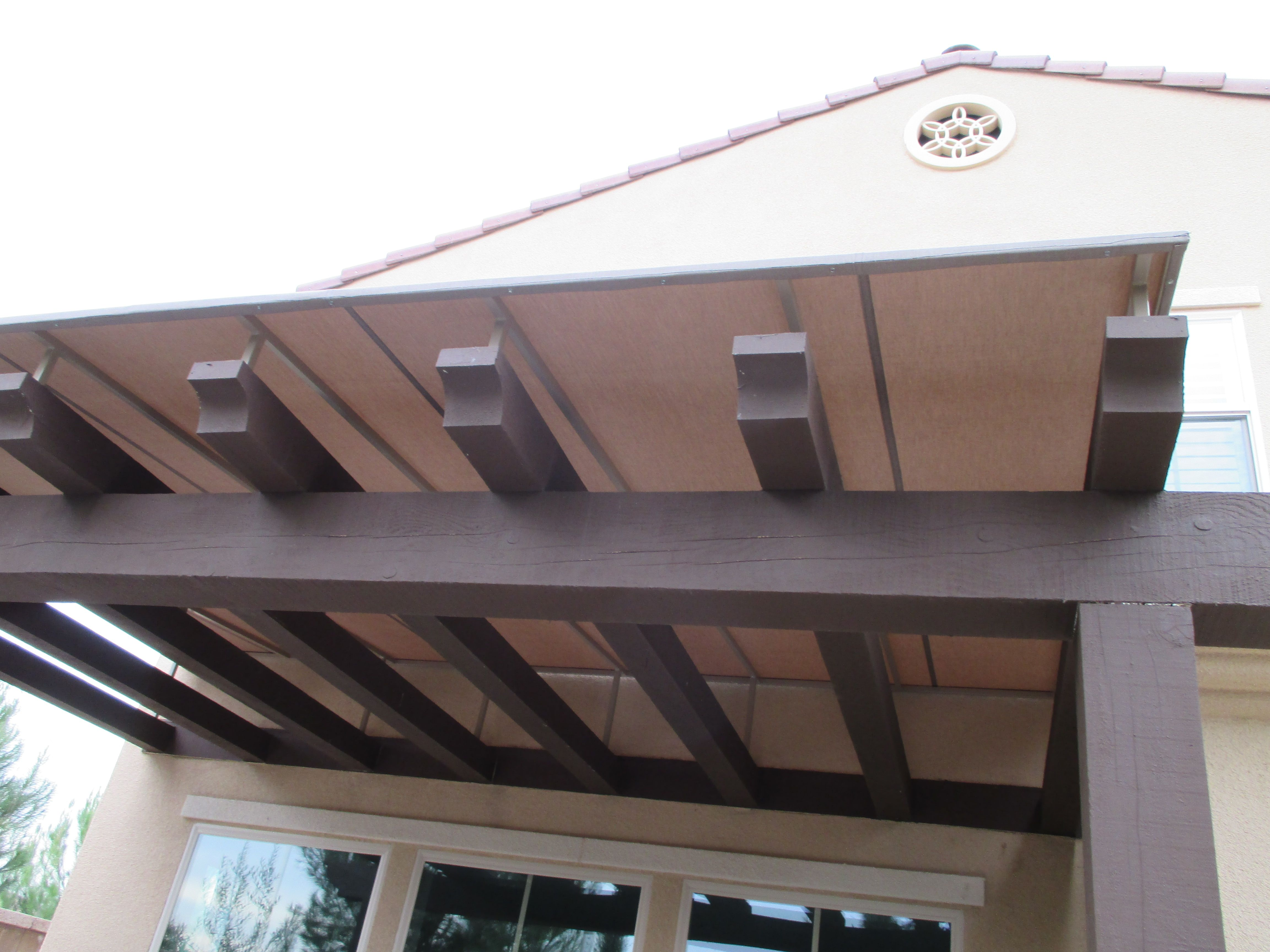 Stonegate Community In Irvine California Just Received Another Awning Trellis Cover Mendocino Sub Community Is Lookin Classic House Trellis Home Improvement
