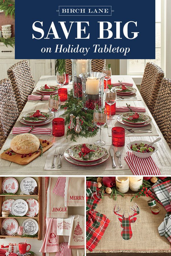 A More Festive Feast Starts With Your Table Setting Shop Our Holiday Tabletop Sale To Find The Perfect Serving Platter Decorative Plate Natal Mesa Posta Mesa