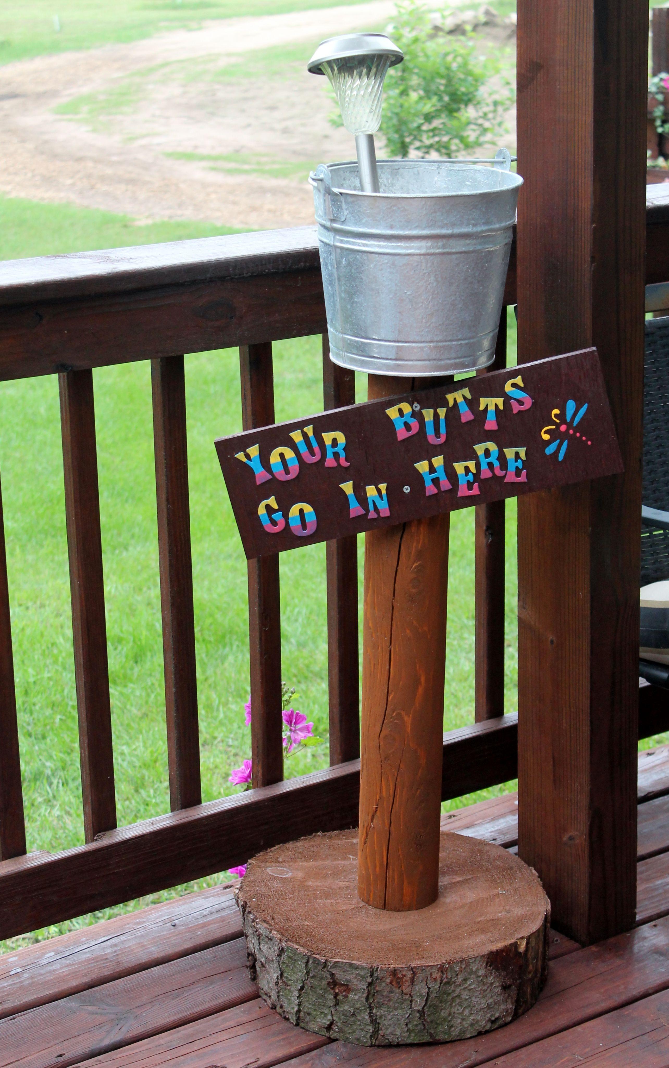 Outdoor Ashtray The Smokers Pot Outdoor Ashtray Diy Outdoor