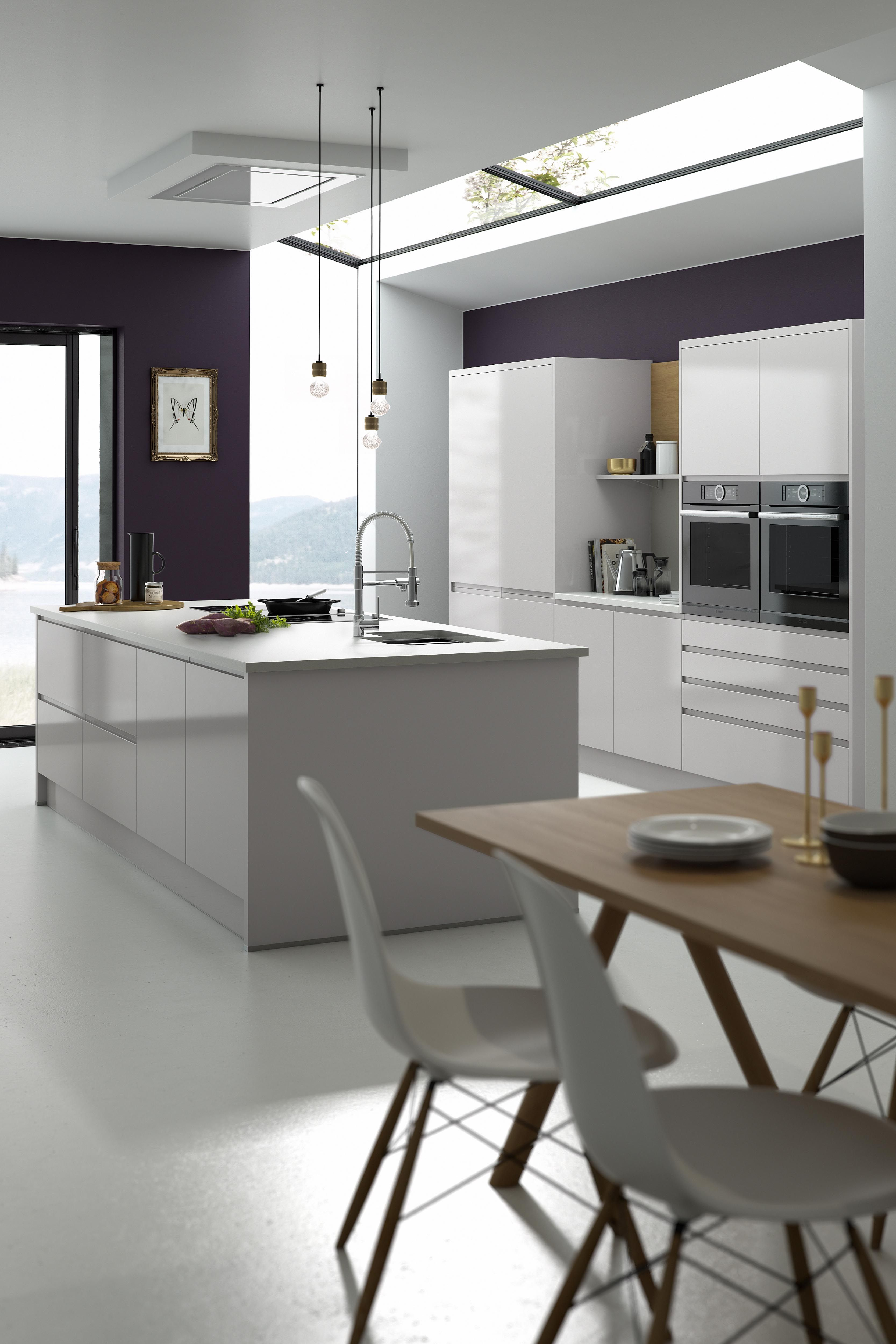Best Modern Kitchen With White Gloss Handleless Doors With 400 x 300