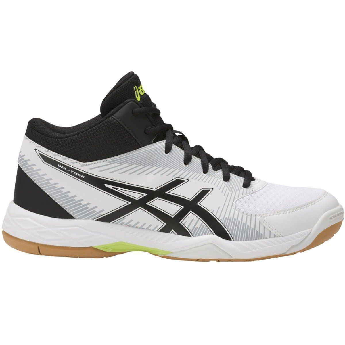 Asics Gel Task Mt M B703y 0190 Shoes White White Black Mens Volleyball Shoes Shoe Manufacturers Volleyball Shoes