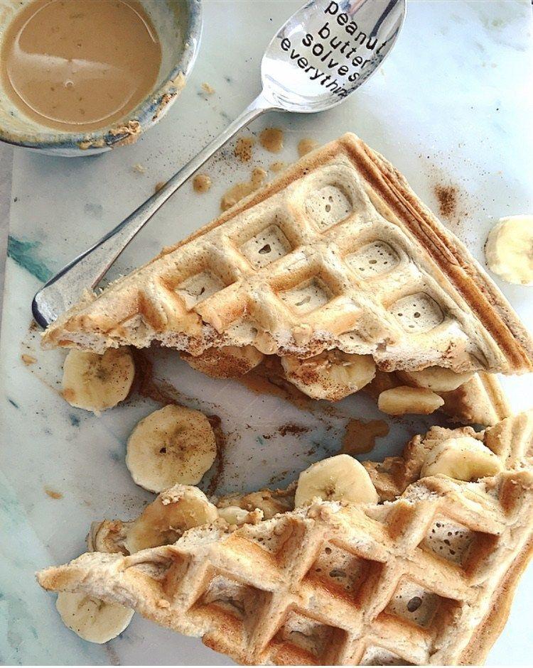 Peanut Butter Waffle Sandwich Recipe Waffle Sandwich
