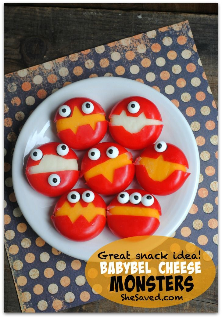 Babybel Cheese Monsters 173 Wilton Candy Eyes Easy