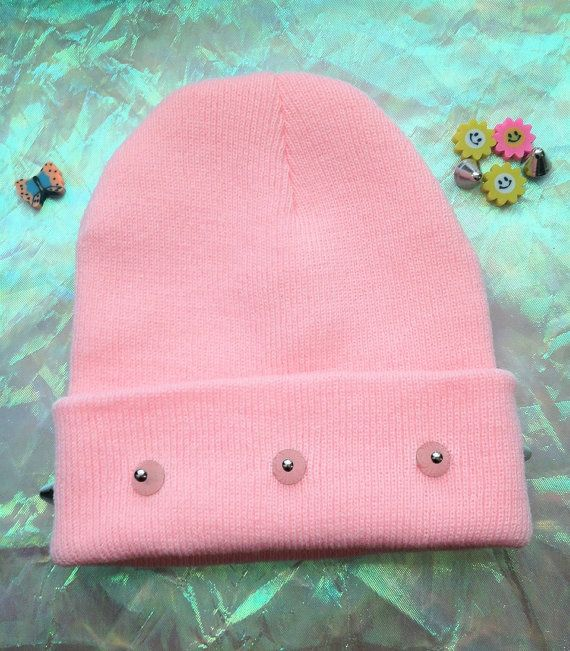 f0e2af673 PINK SPIKED BEANIE// Kawaii Grunge // Pastel Goth | My style c ...