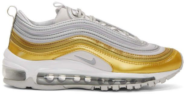 Nike Gold and Silver Air Max 97 SE #Sneakers | Sneakers