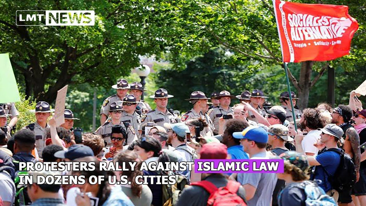 Protesters rally against Islamic law in dozens of U.S